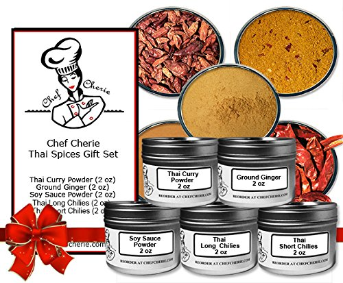 Chef Cherie's Thai Spices Gift Set - Contains 5 - 2 oz. Tins