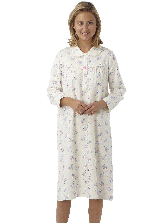 Ladies Winceyette Nightie Nightdress Floral Nightwear