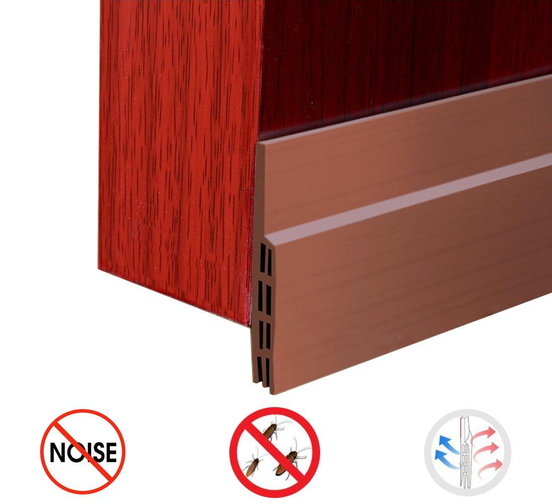 E&S Draft Door Threshold under Door Seal Draft stopper Door Sweep Adhesive Weather Stripping for Door Bottom -Energy Saving Soundproofing Weatherproofing (#1)