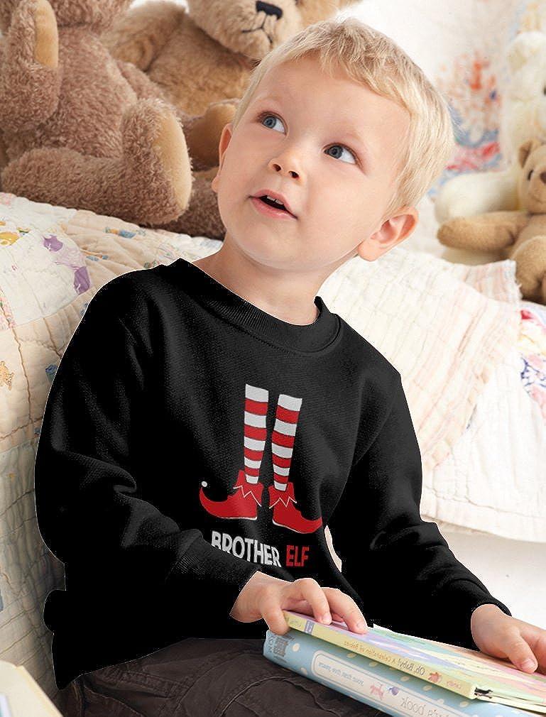 Brother Elf Cute Santas Elf Toddler//Kids Sweatshirt TeeStars