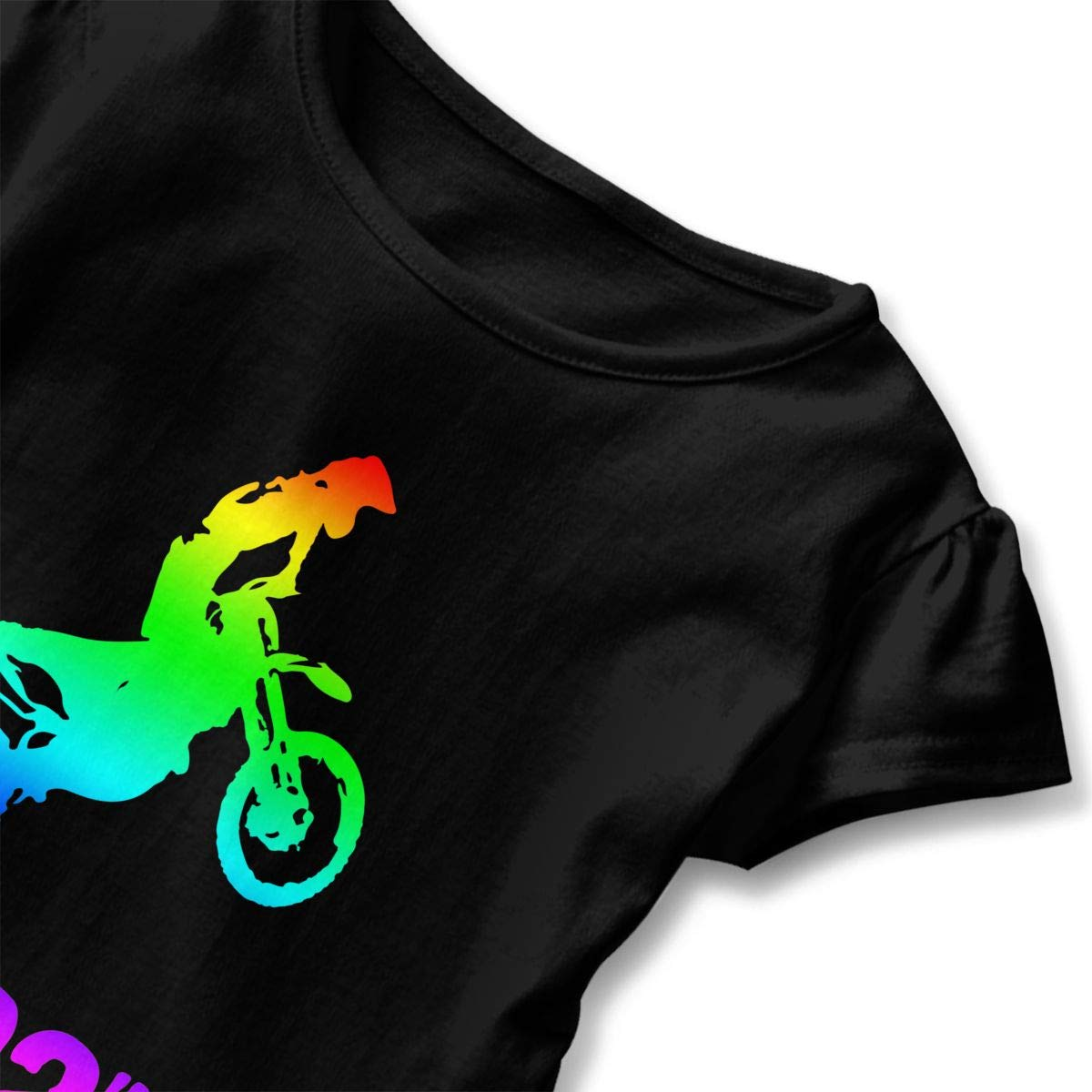 HYBDX9T Toddler Baby Girl Brraaap Dirt Bike Motocross-3 Funny Short Sleeve Cotton T Shirts Basic Tops Tee Clothes
