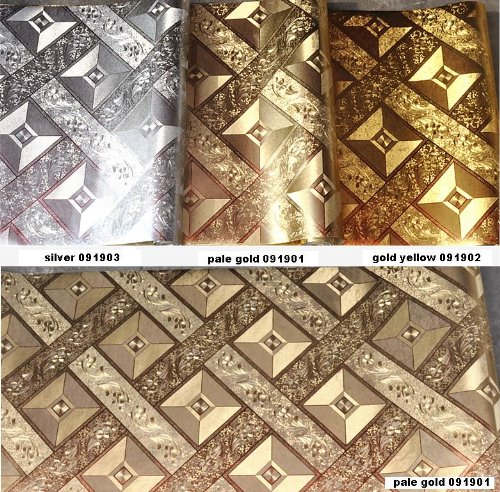 Luxury Gold Foil Mosaic Square Lattice Background Flicker Wallpaper Gold Leaf Wallpaper Modern Roll/hotel Ceiling/decorative Wallpaper Roll Silver Color