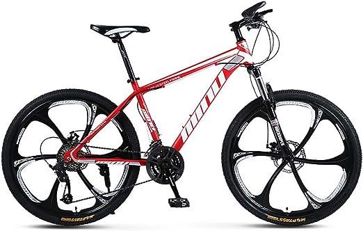 Bicicleta de Playa Paseo Deporte de Viaje Blanco//Rojo,White YGRSJ 26Rueda Bicicleta de monta/ña de 24 velocidades