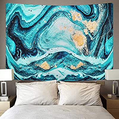 Sevenstars Marble Tapestry Agate Tapestry Ocean Swirl Tapestry Wall Hanging Colorful Ripples Liquid Flow Tapestries for Room