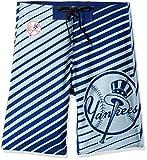 New York Yankees Stripes Poly Boardshort Large 36
