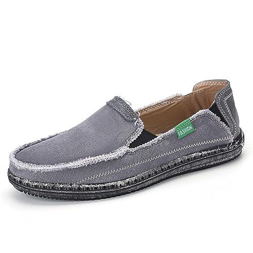 JOINFREE Alpargata de Lona Clásica para Hombre Alpargatas Ocasionales Slip-On Zapatillas de Lona Zapatos de Tela Plimsolls: Amazon.es: Zapatos y ...