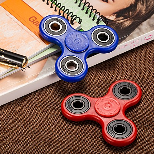 Toplay Fidget Spinner Toy Stress Reducer Ceramic Bearing - Perfect For ADD, ADHD, Anxiety, and Autism Adult Children nuan