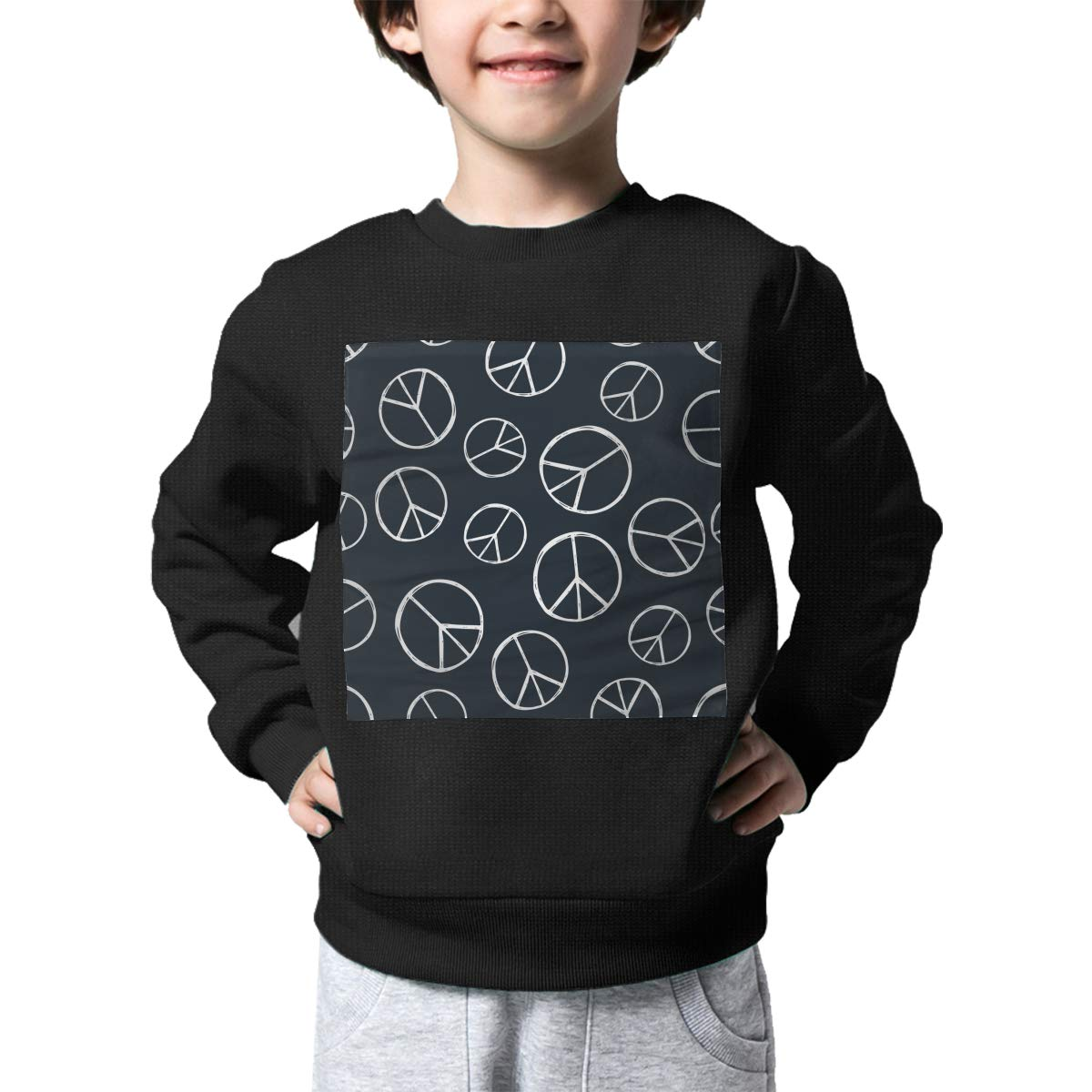 Tie Dye Peace Sign Pattern Printed Baby Girls Kids Crew Neck Sweater Long Sleeve Warm Knitted Top Blouse