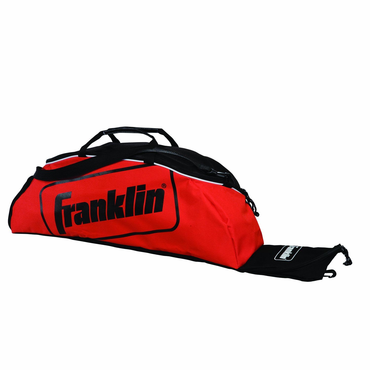 Franklin Sports Youth Baseball Bat Bag - Kids Teeball, Softball, Baseball Equipment Bag - Holds Bat, Helmet, Cleats and More - Red by Franklin Sports