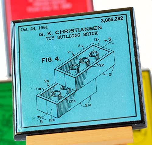 Classic Toys Patent Art Coaster Set