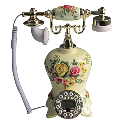 Amazon Com Llp Lm Home Retro Resin Telephone Landline Decoration
