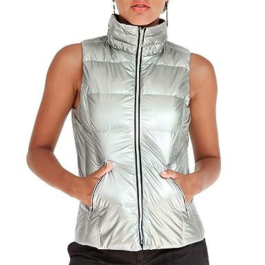 e7e4122bd8b2c My Anorak The Short Nylon Vest in Silver(X-Small, Silver) at Amazon Women's  Clothing store: