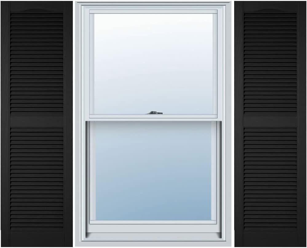 Ekena Millwork Ll1s14x04800bl Lifetime Vinyl Standard Shutter Per Pair 14 1 2 W X 48 H Black Home Improvement Amazon Com