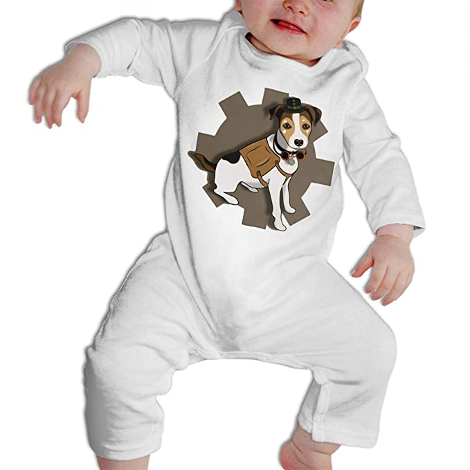 0a65f76a1 Amazon.com: Crazy Popo Infant Baby Cool Steampunk Dog Long Sleeve Romper  Pajama Clothes: Clothing
