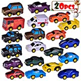 Pull Back Diecast Vehicle Go Racer Toy Car Truck Fun Little Toys Children's Set 20 pcs