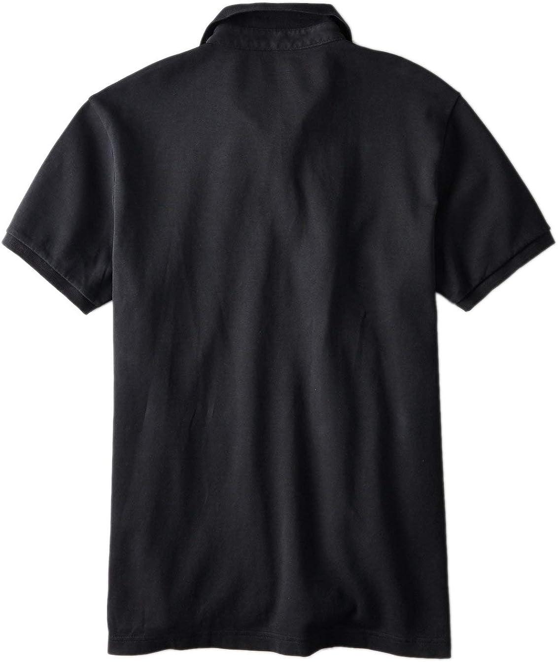 Black American Eagle Mens 8848001 Ultra Soft Logo Polo