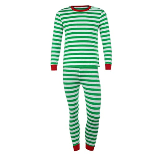 christmas xmas nightwearsunfei couple family matching christmas pajamas set blouse santa striped pants