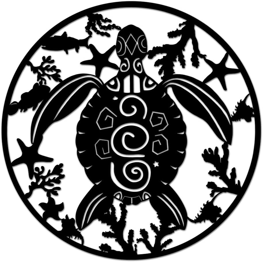 Nachic Wall Turtle Metal Wall Art Sea Animal Metal Art Decorations for Walls In Living Room Bedroom Metal Wall Sculptures Home Decor