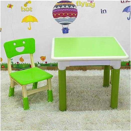 LIANGJUN Juegos De Mesa Y Sillas for Niños El Plastico Mesa ...