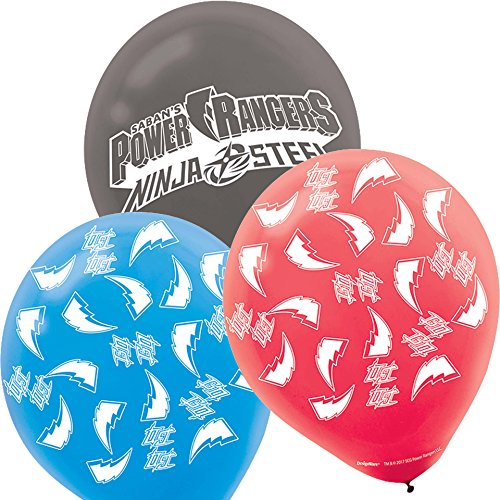 amscan Power Rangers Latex Balloons (6 Pack) -