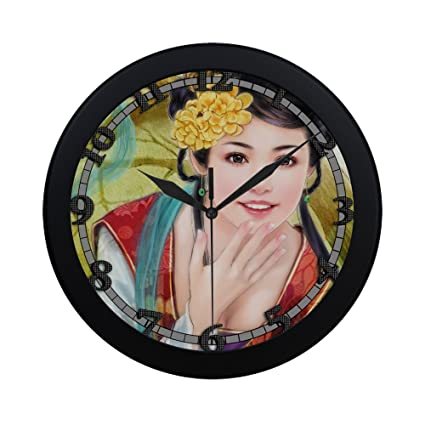 Asian clock decor wall the talented