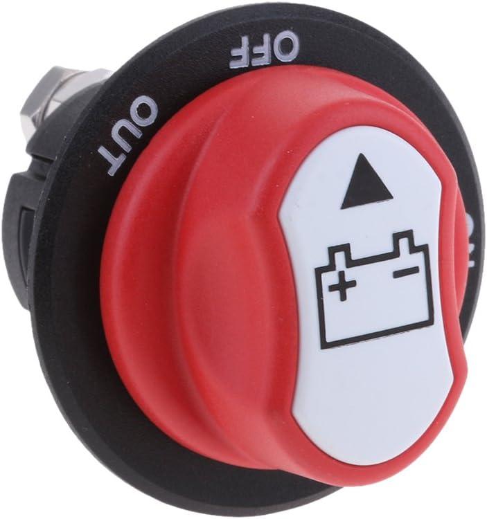 rojo 200A Interruptor de Seccionador de Corte de Bater/ía Reparaci/ón de Coche Barco Marino