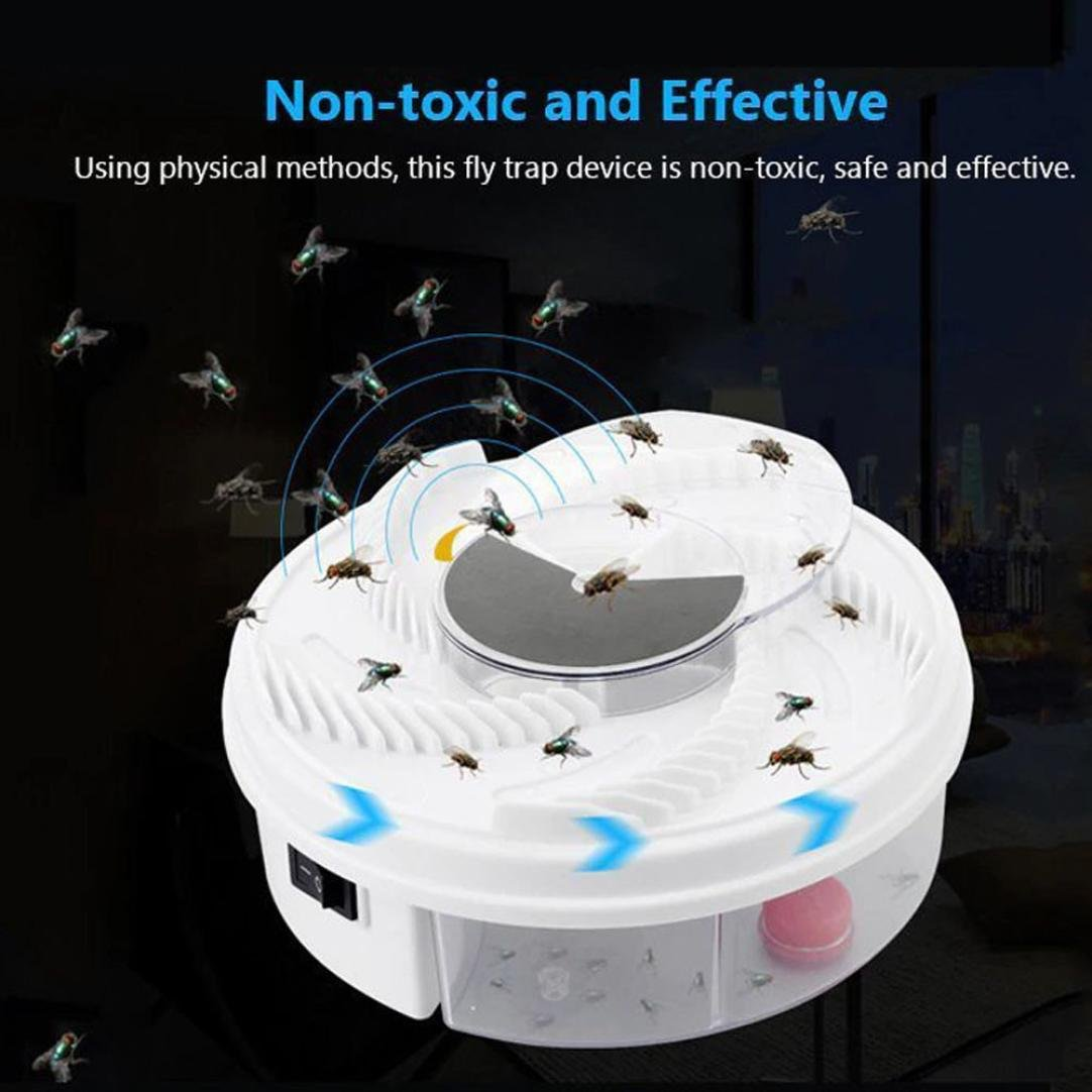 Hechun Electric Fly Trap Device with Trapping Food Mosquito Killer Pest Control Pest Catcher (White) by Hechun (Image #7)