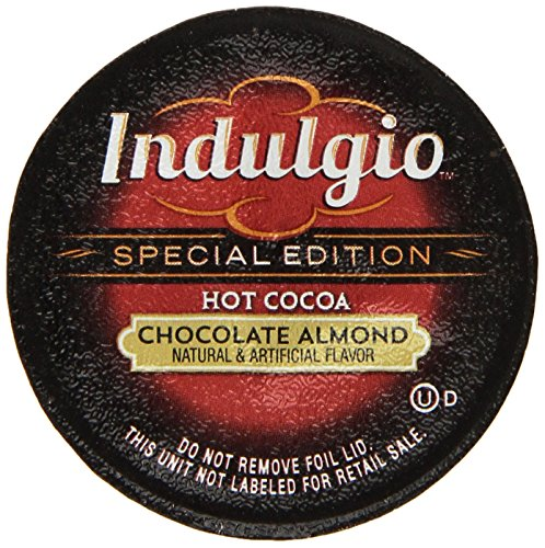 Indulgio Almond Chocolate Cocoa Special Edition for Keurig K-Cup Brewers, 12 Count (Pack of 6) (Compatible with 2.0 Keurig (Special Edition Brewer)