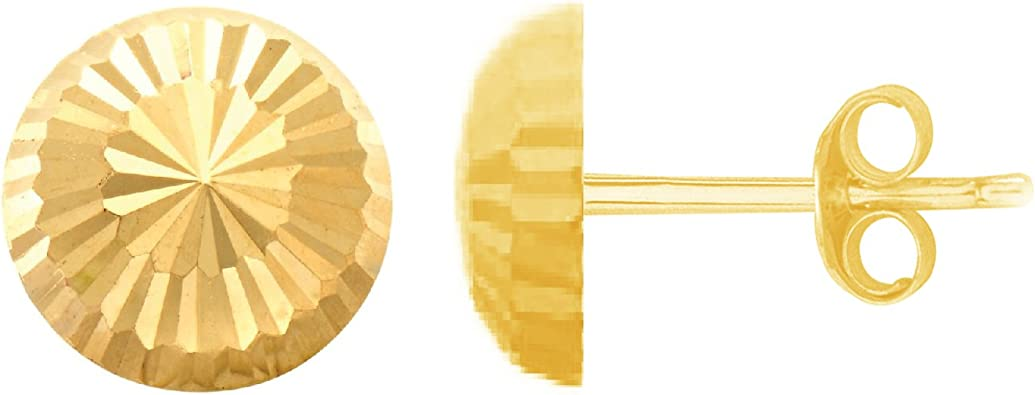 14kt Yellow Gold  Shiny Ball Post Earring