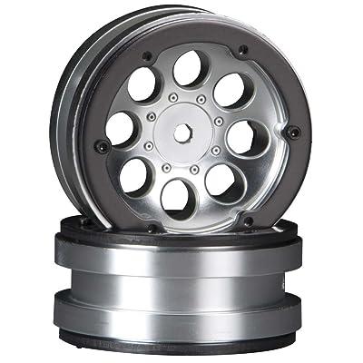 Axial AX8088 8-Hole 1.9 Beadlock Wheel Satin Chrome (2): AXIC8088: Toys & Games