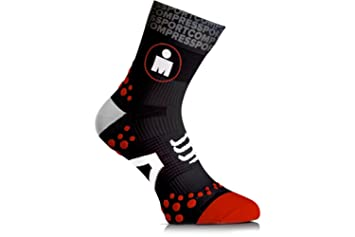 Compressport Calcetines Ironman Pro Racing Socks Run V2.1 High Blancos - T2: Amazon.es: Deportes y aire libre
