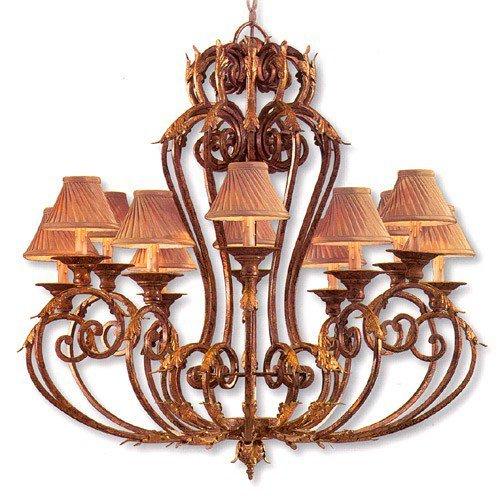 - Metropolitan N6239-355, Zaragoza Candle 1 Tier Chandelier Lighting, 12 Light, 720 Watts, Bronze