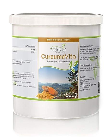 CELLA Vita Curcuma Vita | Curcuma polvo & pimienta negra | bio kurkuma | Amarillo Jengibre