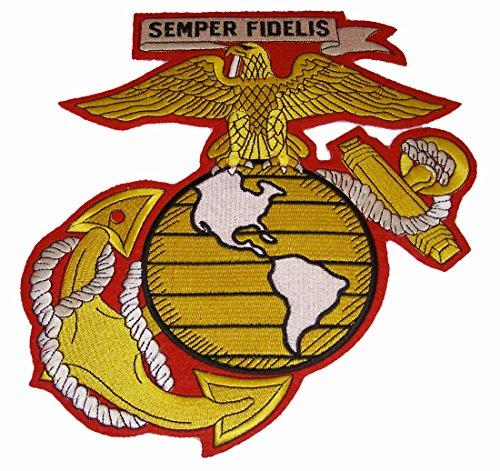 Large Marine Corps Emblem Eagle, Globe Anchor Cutout Patch - Large 9