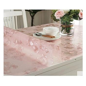 LSS Kristall Platte Transparent Tischset PVC Weiches Glas Oval Plastik  Tischdecke Wasserdicht Anti Brennen