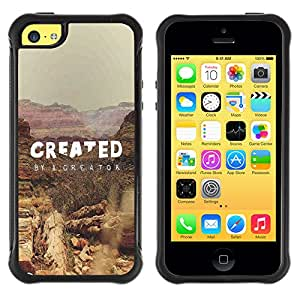 iDesign Rugged Armor Slim Protection Case Cover - CREATED BY A CREATOR - Apple Iphone 5C