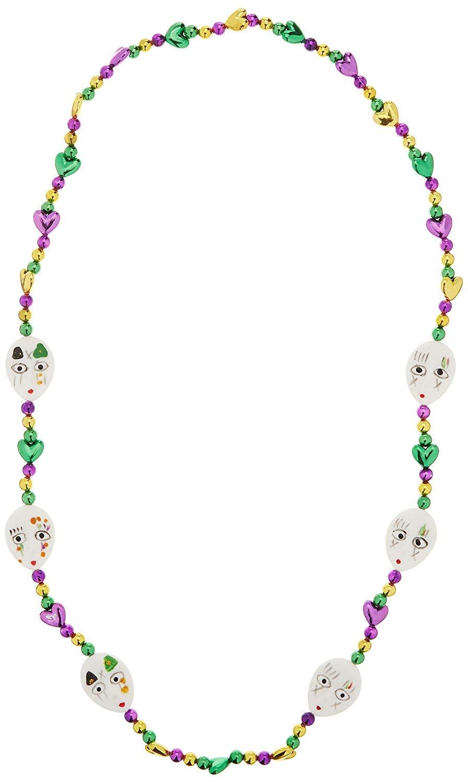 Mardi Gras Mime Beads 42'' (1/Pkg) Pkg/6