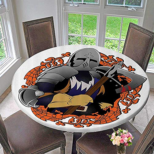 - Mikihome Round Tablecloths Renaissance Knight Swinging an Axe ntasy Fighter Heroic 67