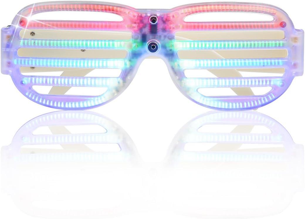 EL Glasses LED Light Up Glow Flashing Shade Sunglasses Party Bar UK