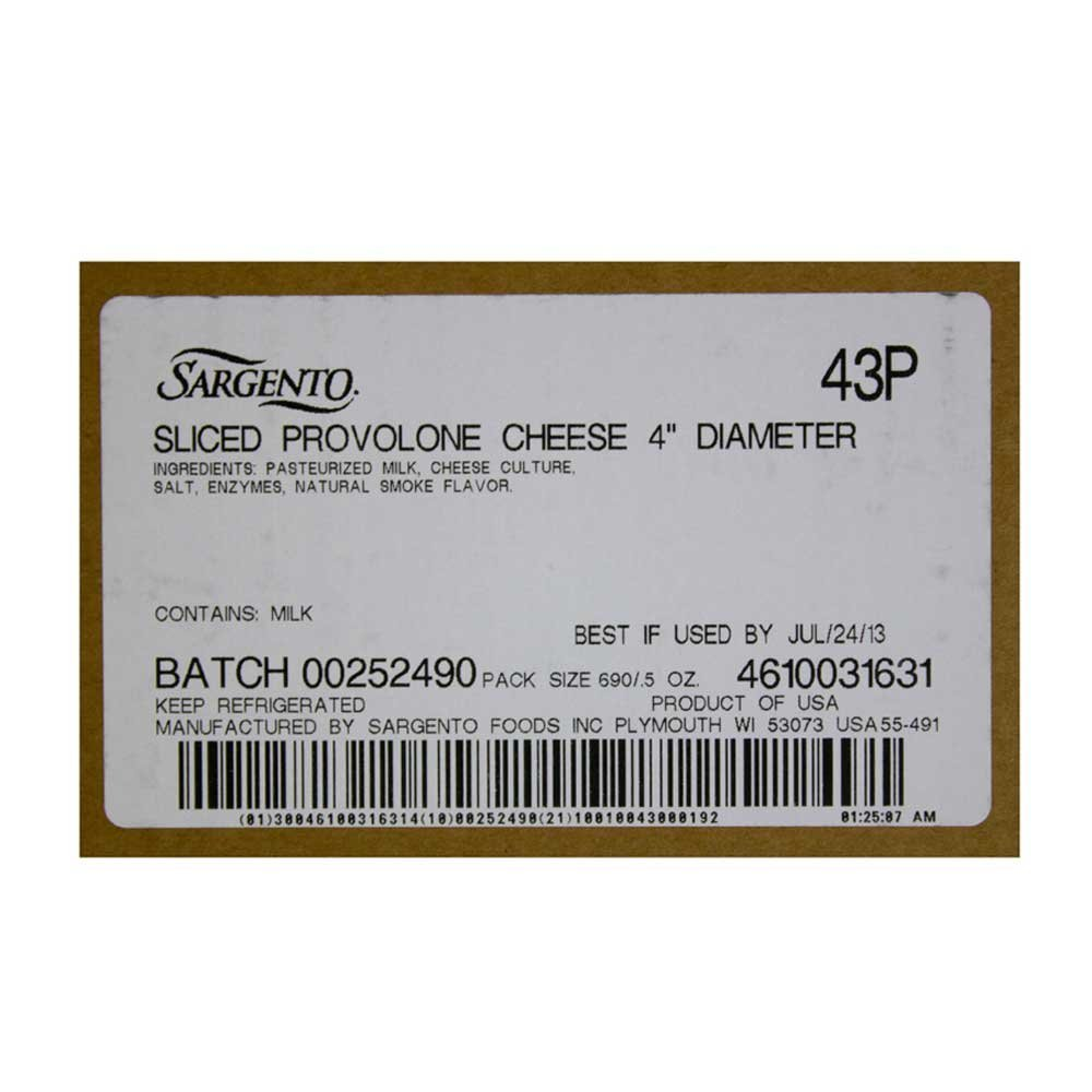Sargento Sliced Provolone, 1.437 Pound -- 15 per case. by Sargento