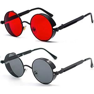 Amazon.com: ProudDemon - Gafas de sol retro góticas ...