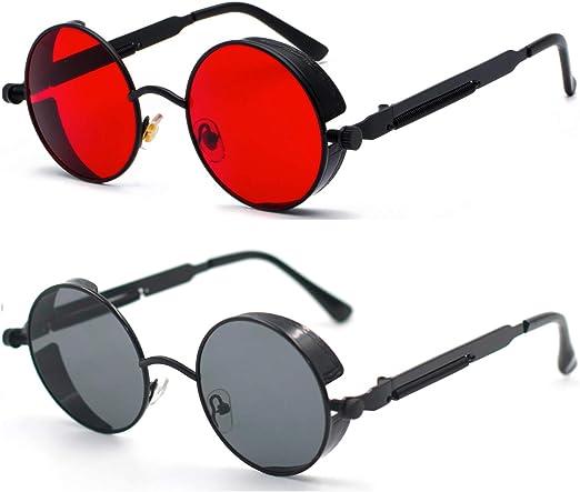 Small Square Sunglasses Men Designer Punk Goth Sunglasses Women Vintage Glasses