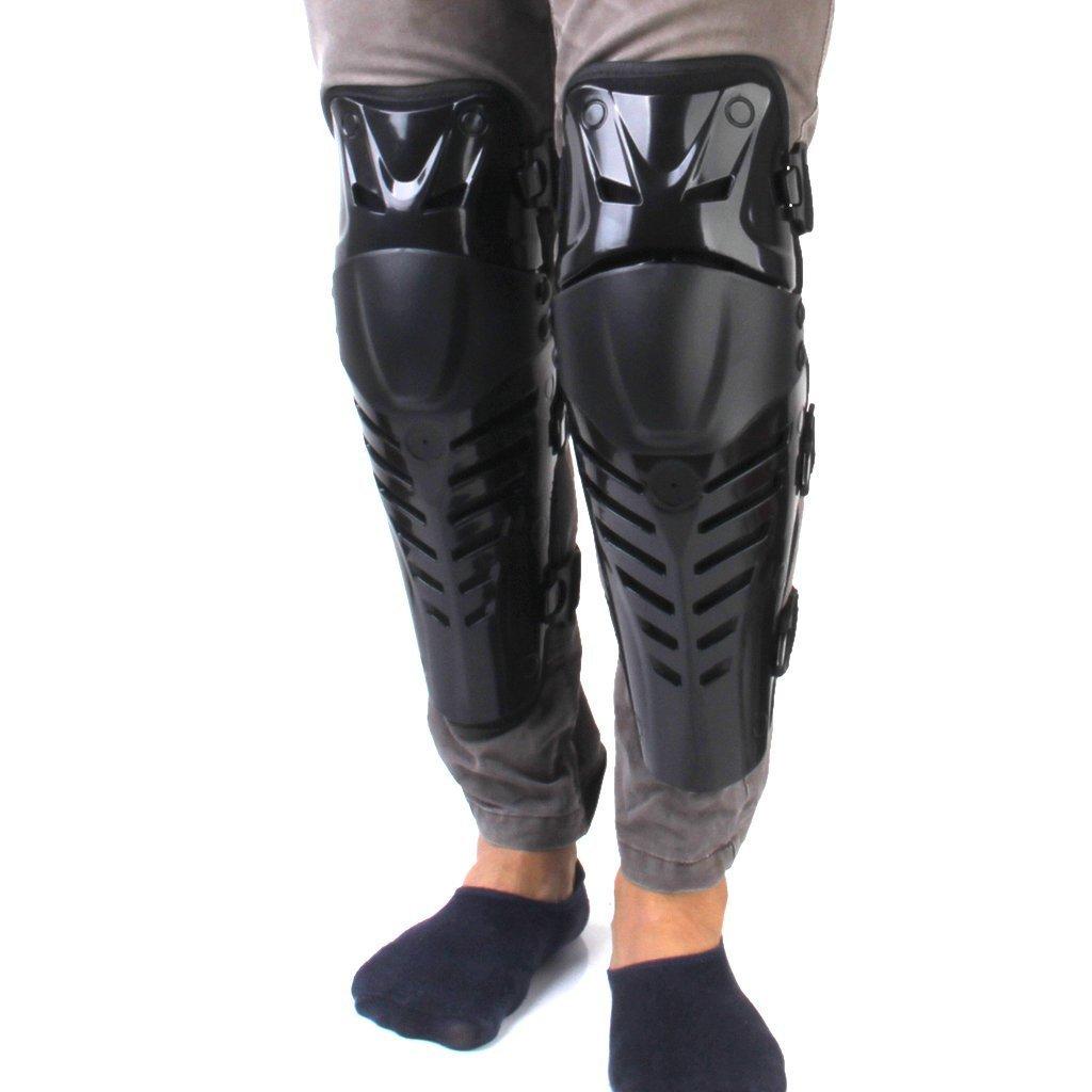 maltonyo17todoterreno moto Racing rodilla almohadillas guardias Protective Gear negro