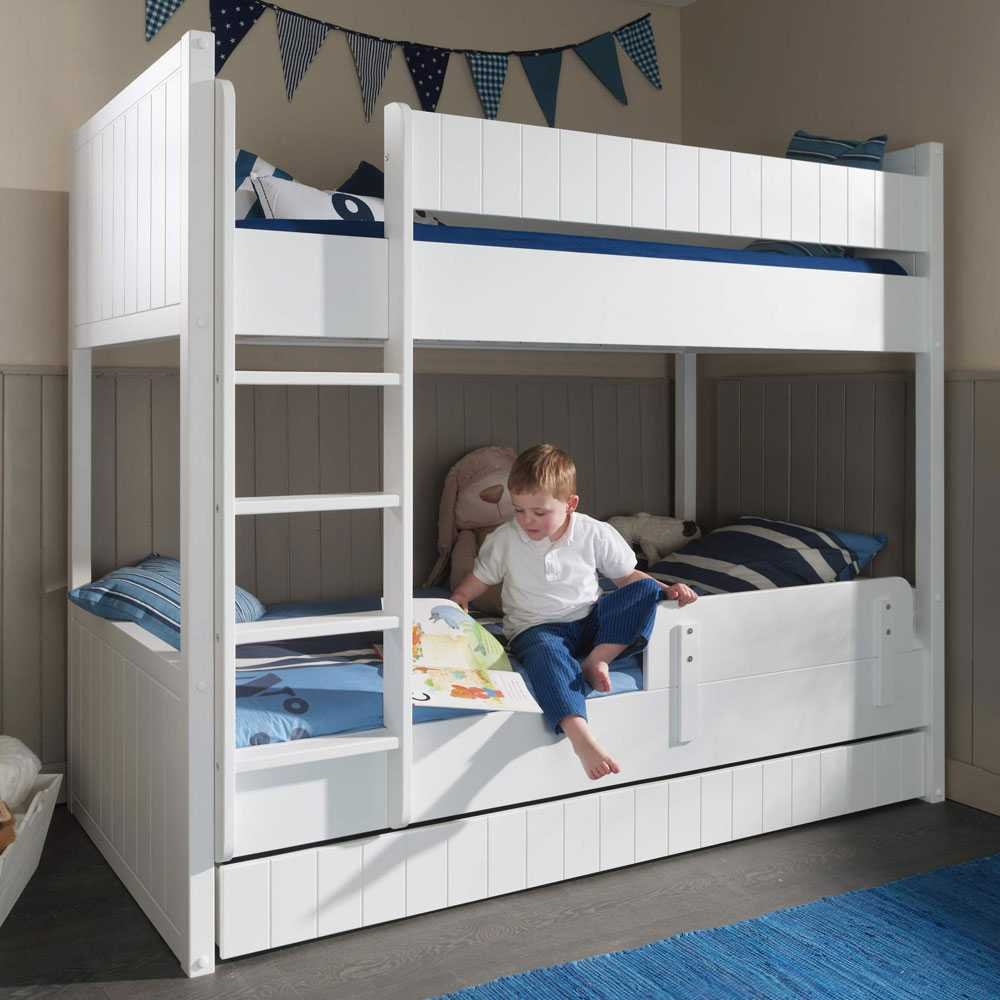 Kinderetagenbett Bondo in Weiß Pharao24
