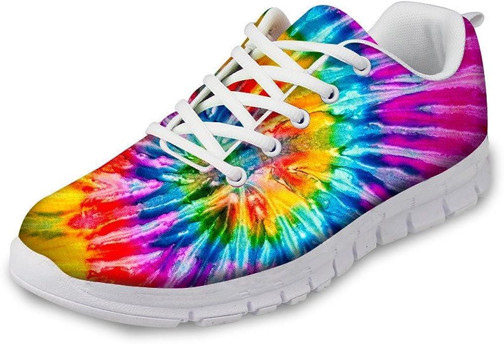 Flowerwalk - Zapatillas de Deporte para Mujer, cómodas, con diseño de Flores y arcoíris, Modernas, para el Tiempo Libre, Fitness, Gimnasio: Amazon.es: Zapatos y complementos
