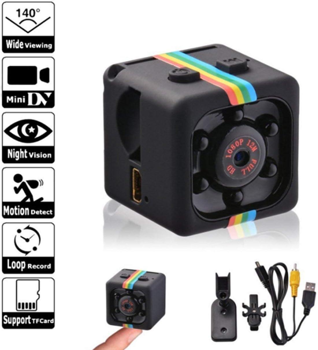 Caroline Philipson SQ11 Mini Micro Dice Cam/éra HD Video Vision Nocturne HD 1080P 960P Cam/éscope Moniteurs dappareil Photo /à Distance du capteur WiFi Noir//960P