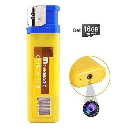 TEKMAGIC 16GB Micro Camara de Espionaje Oculta USB Grabadora Espia Pequeñas Activada por Sonido 30fps