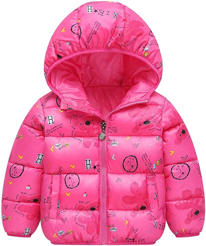 Toddler Infant Baby Girls Boys outerwear Hooded Winter Warm Jacket Down Snowsuit
