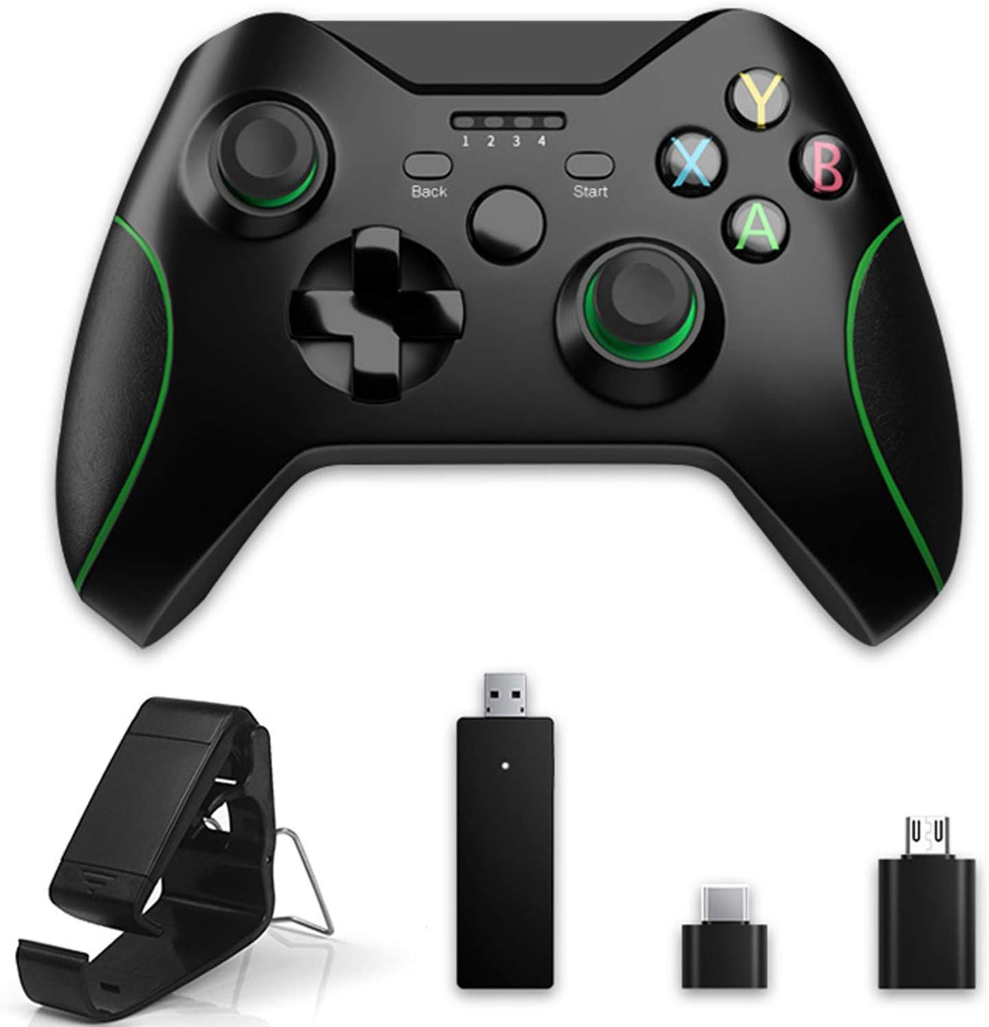 Mandos inalámbrico de 2.4Ghz para Xbox One, Gamepad multifunción de doble vibración para PS3, Joystick de diseño ergonómico antideslizante es compatible con PC con Windows y Android