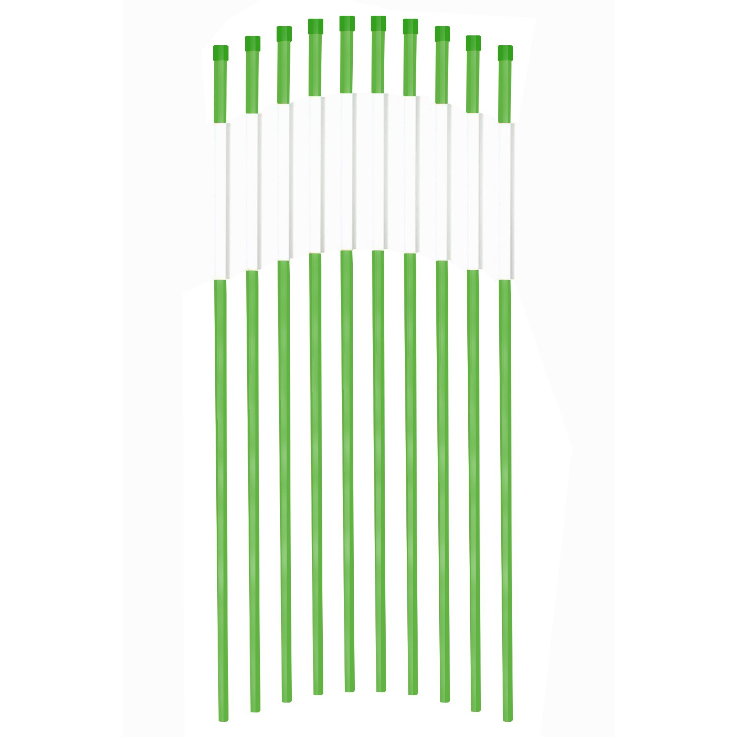 Fibermarker 60Inch Reflective Driveway Markers 5/16Inch Green Solid Driveway Poles for Easy Visibility at Night (100) by FiberMarker (Image #1)